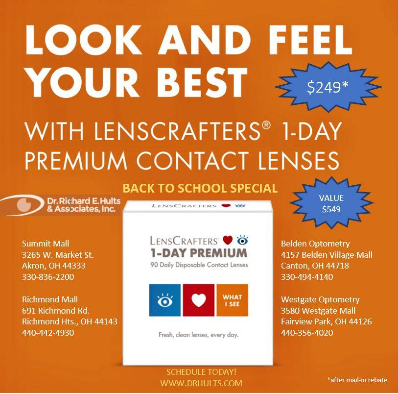 LENSCRAFTERS 1-Day PREMIUM CONTACT LENSES